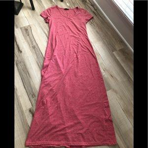 T-shirt short sleeve maxi dress